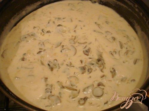 Сырно грибной соус