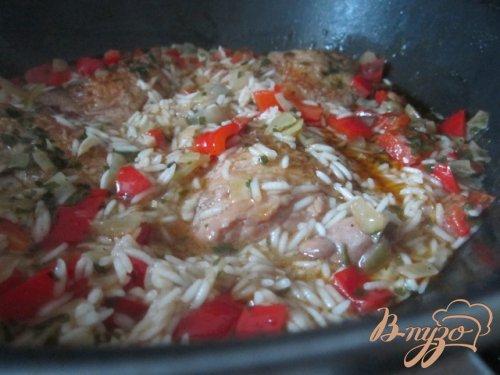 Пряная курица с рисом