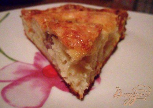 Сытный пирог с фрикадельками