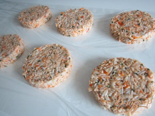 Рисовые котлетки с сурими