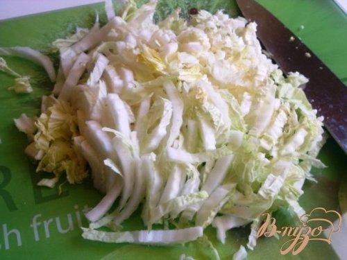 Салат со спаржей и пекинской капустой
