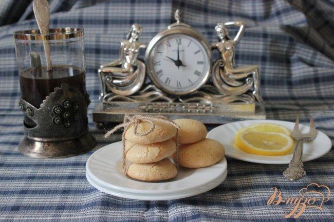 Фото приготовление рецепта: Миндальное печенье. шаг №7