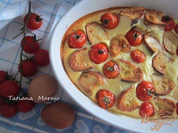 Рецепт Запеканка из черствого хлеба с томатами