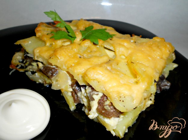 Рецепт Запеканка с грибами и картофелем