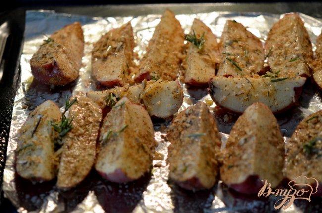 Фото приготовление рецепта: Лучшие картофельные дольки шаг №3