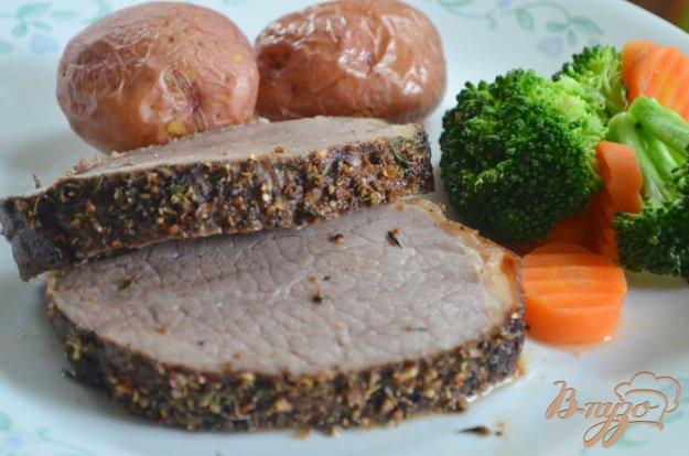 фото рецепта: Жаркое из говядины с пряной корочкой