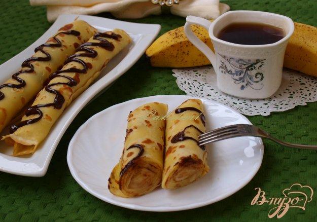 Рецепт Блины, фаршированные бананом