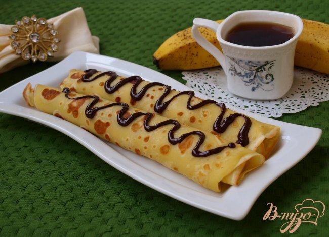 Фото приготовление рецепта: Блины, фаршированные бананом шаг №7