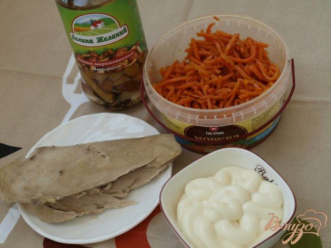 Фото приготовление рецепта: Салат с курицей и маринованными опятами шаг №1