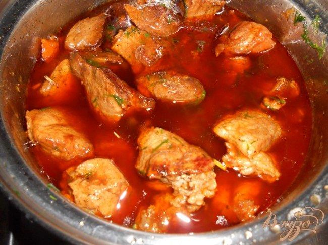 Фото приготовление рецепта: Говядина в цитрусовом маринаде шаг №4