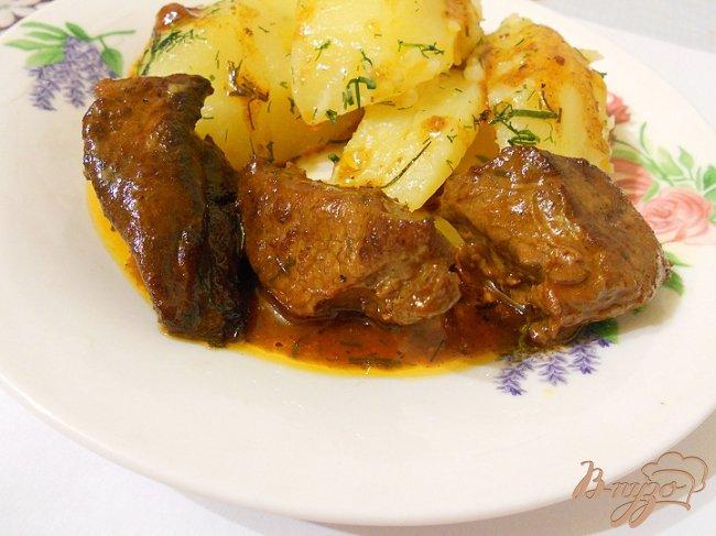 Фото приготовление рецепта: Говядина в цитрусовом маринаде шаг №5