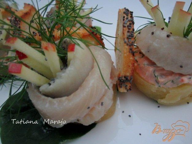 Рецепт Закуска из копченой сельди