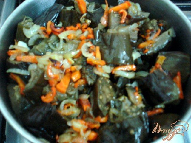 Фото приготовление рецепта: Баклажаны в сметанном соусе шаг №5