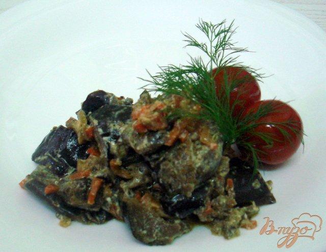 Фото приготовление рецепта: Баклажаны в сметанном соусе шаг №8