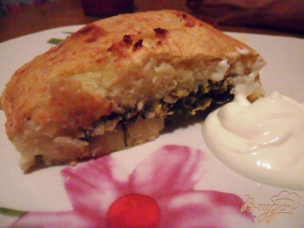 Рецепт Картофельный рулет с яйцом и зеленью