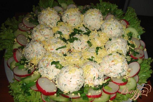 Рецепт Творожные крокеты на овощном салате