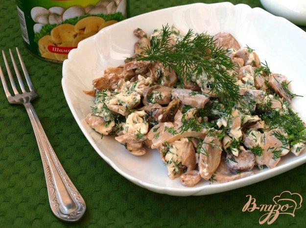 Рецепт Быстрая закуска из резанных шампиньонов