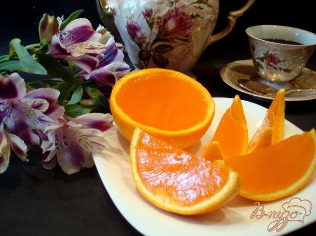 Рецепт А-ля апельсины (желе в апельсиновых долькох.)