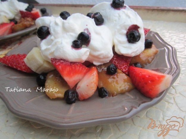 Десерт з бананами в молочної карамелі. Як приготувати з фото