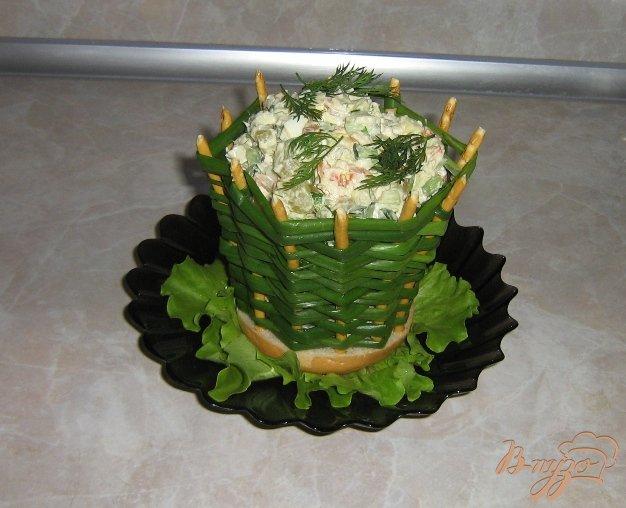Фото приготовление рецепта: Луковые корзинки для салатов шаг №7