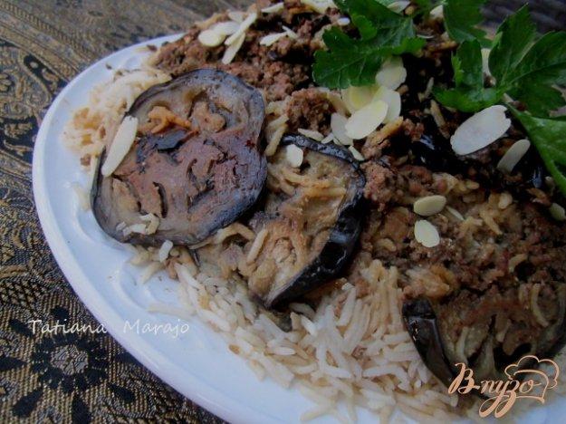 Рецепт Ma'loubeh - Рис с баклажанами и фаршем
