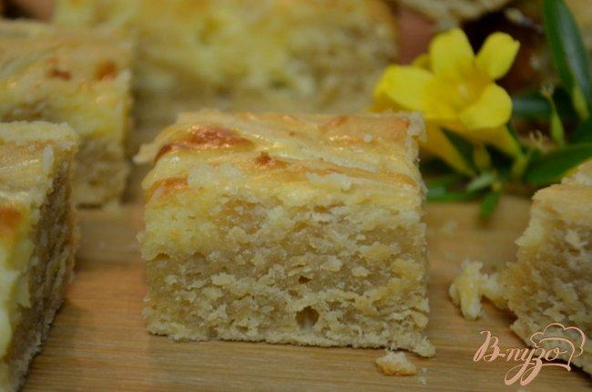 Фото приготовление рецепта: Блонди лимонный чизкейк шаг №6