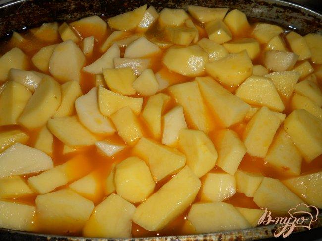 картофель тушеный с курицей рецепт с фото