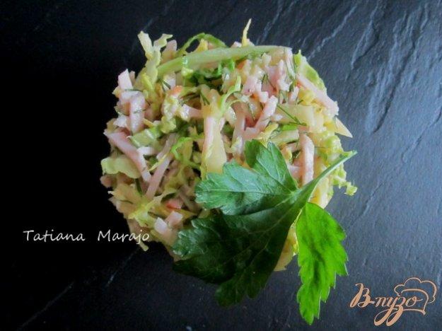 Рецепт Капустный салат с индюшкой