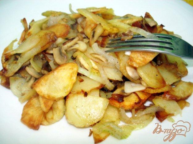 Рецепт Картошка жареная с грибами