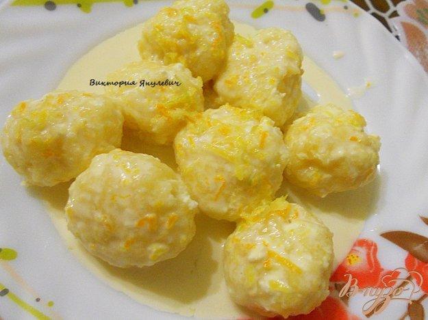 Рецепт Ленивые вареники со сметано - цитрусовым соусом