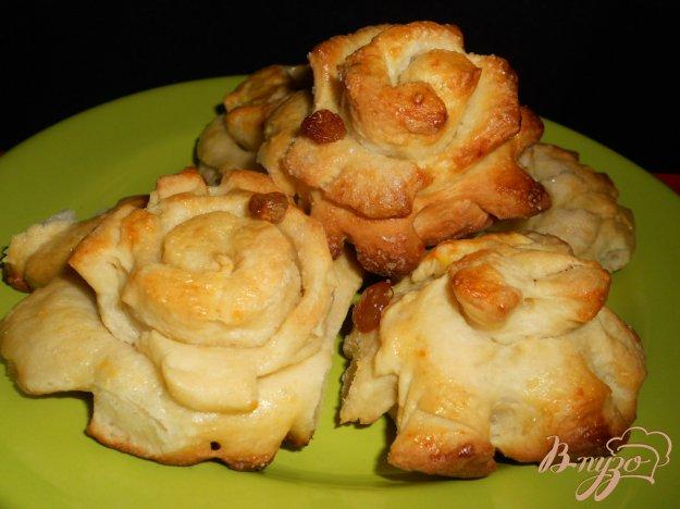 Рецепт Булочки «Хризантемы» (тесто в хлебопечке)