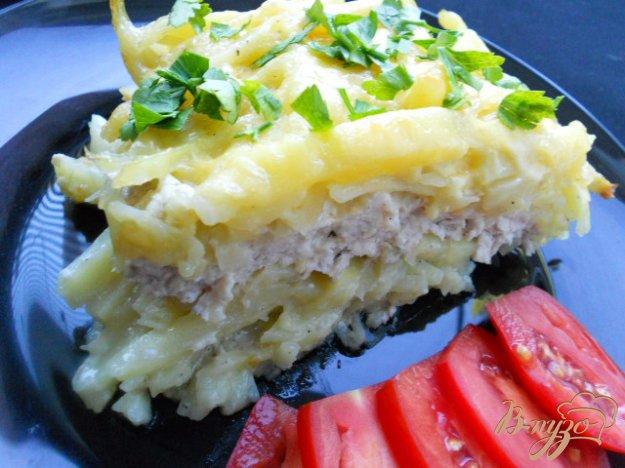 Рецепт Запеканка из сырого картофеля и куриного фарша