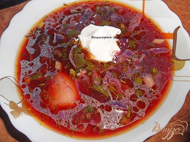 Фото приготовление рецепта: Борщ из краснокачанной капусты шаг №5
