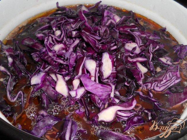 Фото приготовление рецепта: Борщ из краснокачанной капусты шаг №3