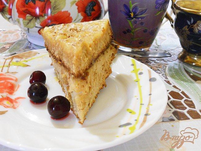 Фото приготовление рецепта: Медовый бисквит с заварным кремом шаг №5