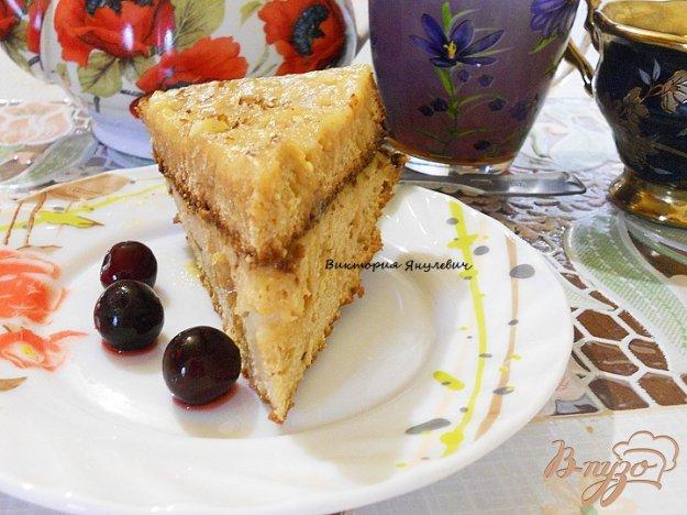 фото рецепта: Медовый бисквит с заварным кремом
