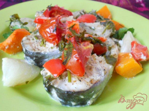 Рецепт Рыба запеченная с овощами в сливках