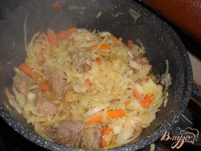 Фото приготовление рецепта: Овощное рагу с мясом шаг №3