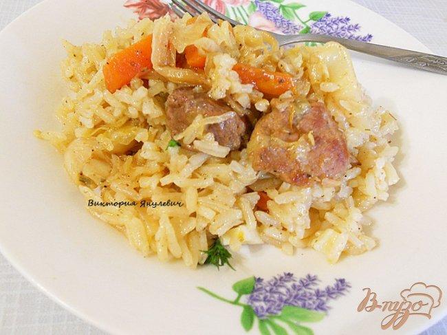 Фото приготовление рецепта: Овощное рагу с мясом шаг №5