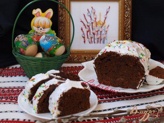Рецепт Пасхальный шоколадный кекс с цукатами