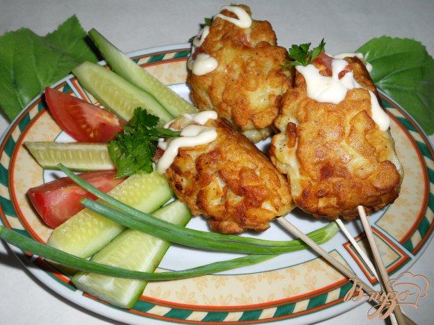 Рецепт Сосиски в картофеле на палочках