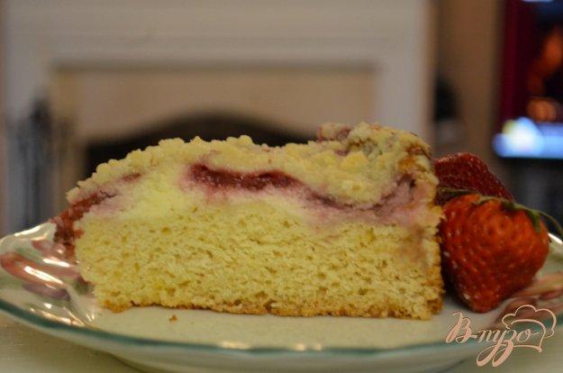 Рецепт Клубничный кекс со сливочным сыром