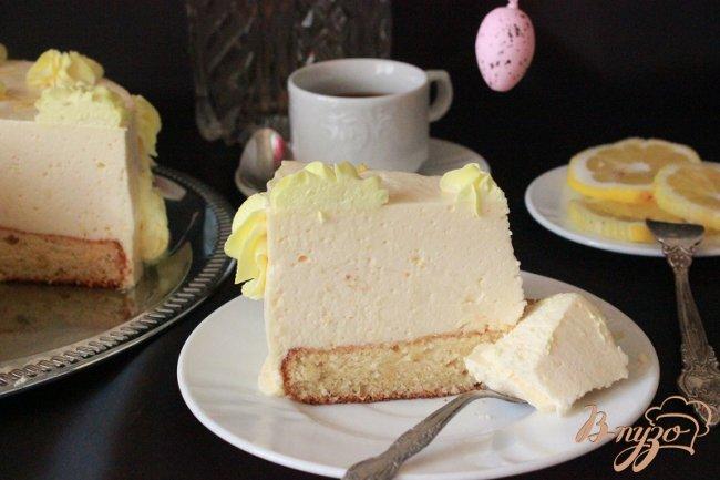 Фото приготовление рецепта: Нежный лимонный торт шаг №17