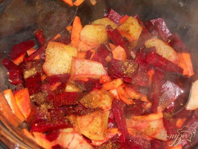 Фото приготовление рецепта: Постный и очень овощной борщ шаг №1