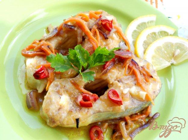 Рецепт Пангасиус тушеный на сковороде с овощами