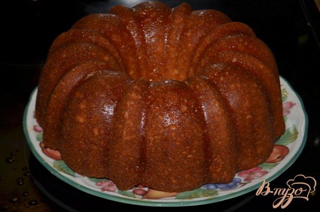Фото приготовление рецепта: Кекс с медовой- апельсиновой глазурью шаг №6