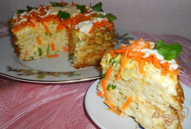 Рецепт Тортик из капустных блинчиков