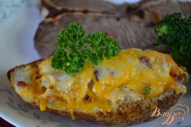 Рецепт Фаршированный картофель с беконом