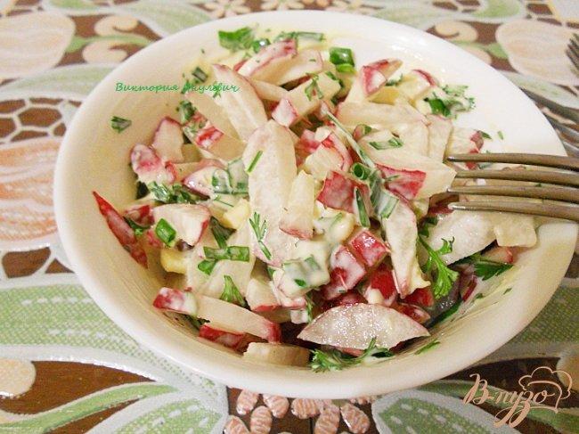 Фото приготовление рецепта: Салат редисовый шаг №5