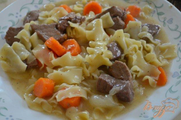 Рецепт Рагу из говядины с лапшой